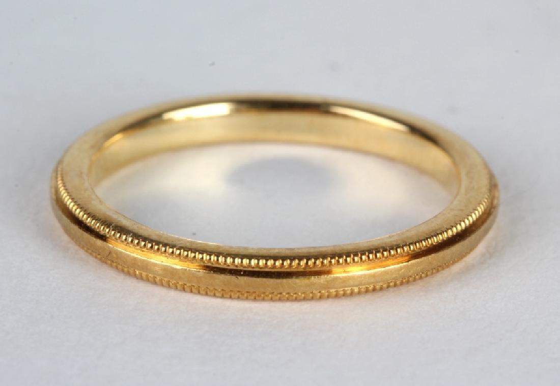 Cartier France 18k Yellow Gold  Milgrain 2mm Ring