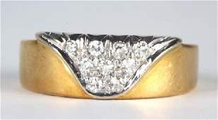 FINE Cartier France Diamond & 18k Gold Ring Size 6
