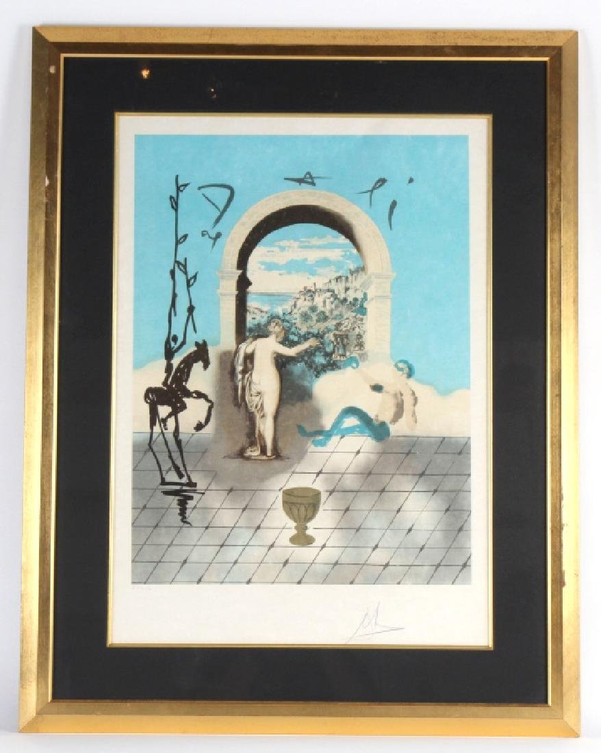 Dali GATEWAY TO THE NEW WORLD Lithograph on Japon