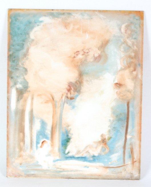 Louis Slobodkin Gouache Art Painting BASS MUSEUM