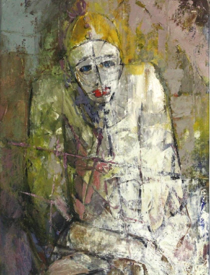 FRANK SPEARS Clown Portrait Painting BASS MUSEUM