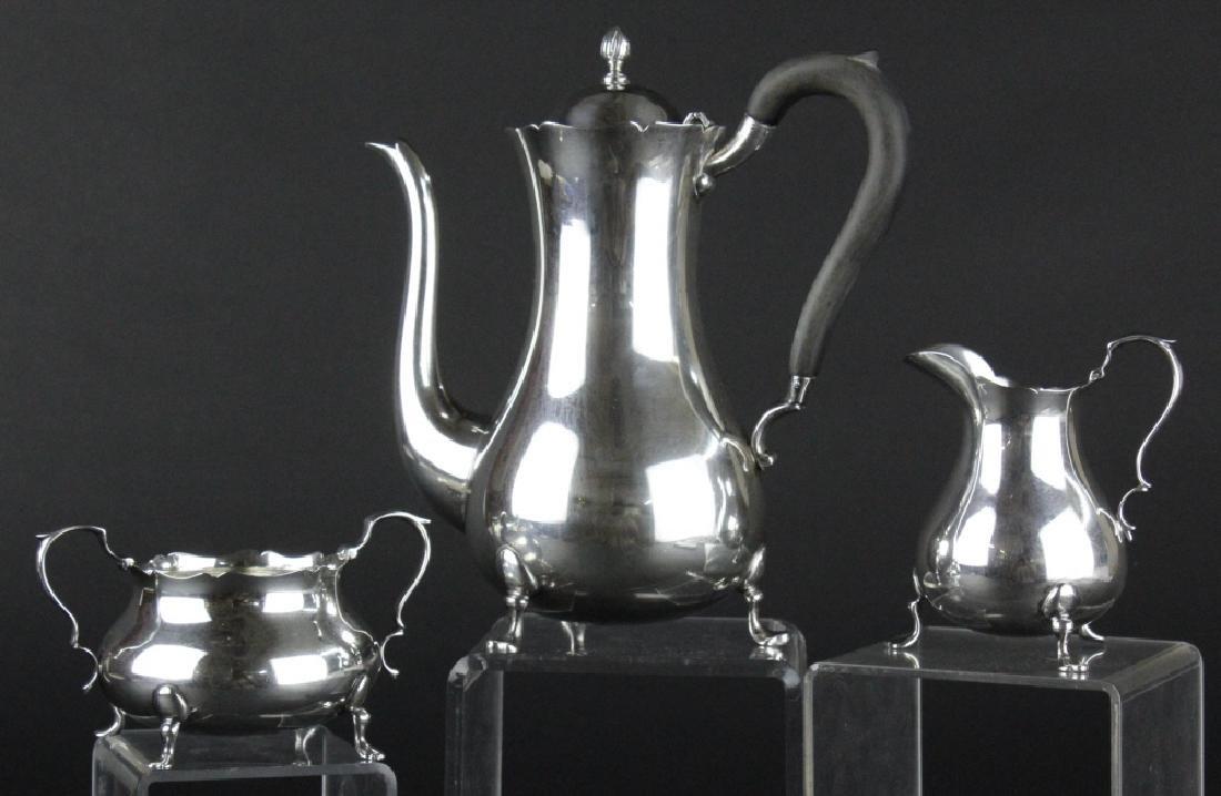 LUNT 3pc Sterling Silver Jack Shepard Tea Set 782g