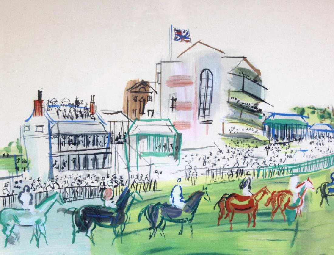 Raoul Dufy Epsom Hand Colored Serigraph On Paper