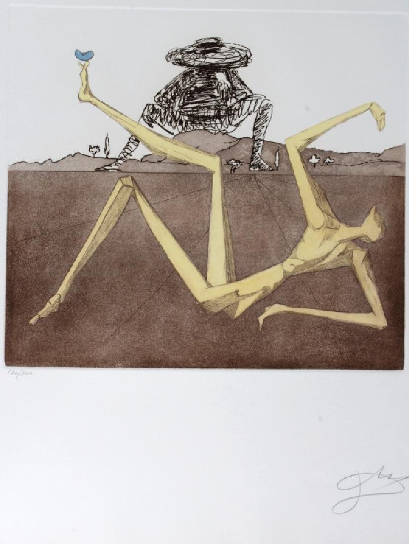 Salvador Dali HEART OF MADNESS LE Etching SIGNED