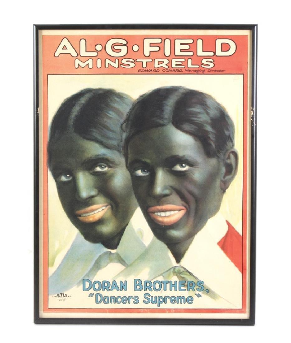 Al Field Minstrels Litho Poster Black Americana