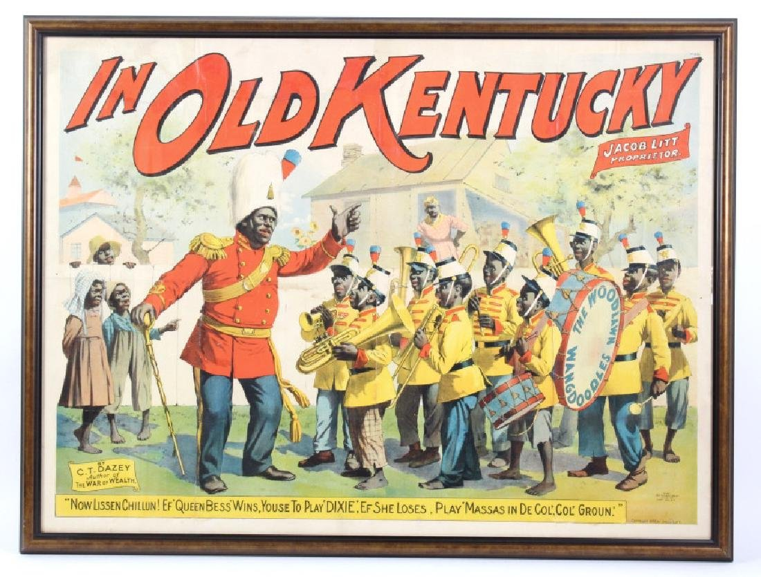 Black Americana 1893 in Old Kentucky Litho Poster