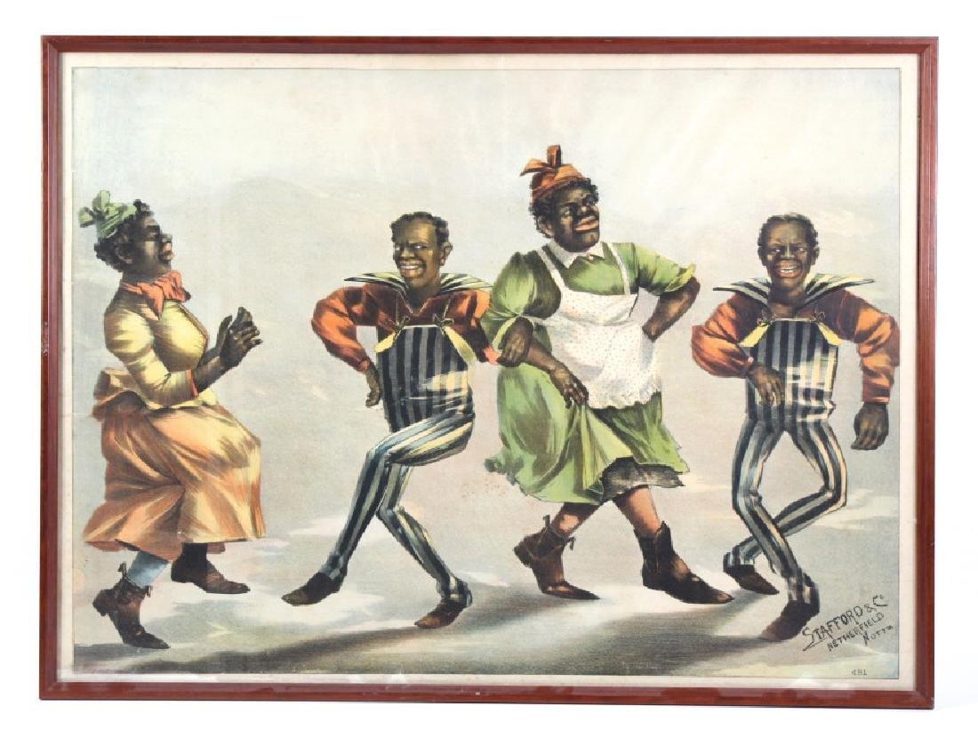 Dancer Jive Minstrel Litho Poster Black Americana