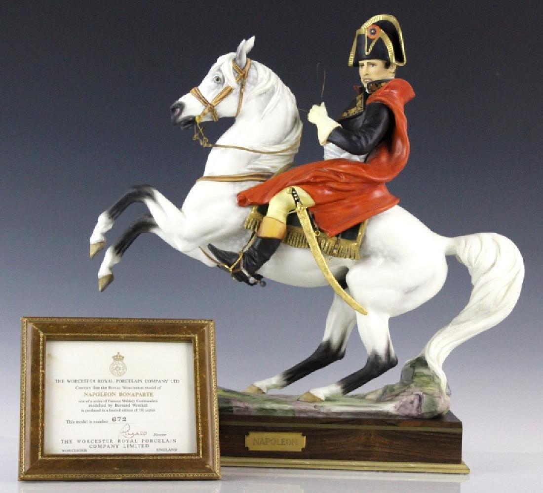 Royal Worcester Napoleon L/E Porcelain Figurine