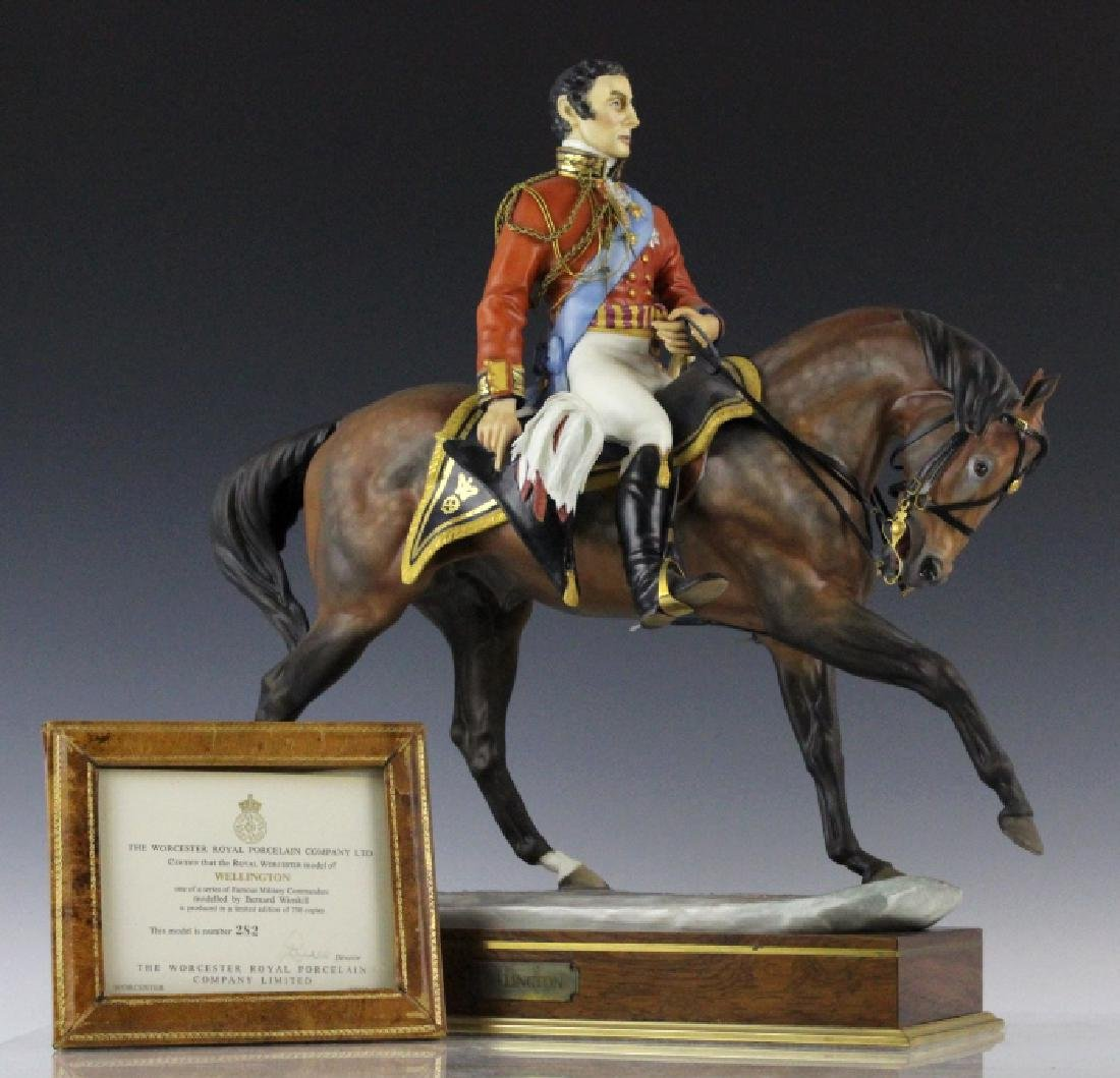 Royal Worcester Wellington L/E Porcelain Figurine