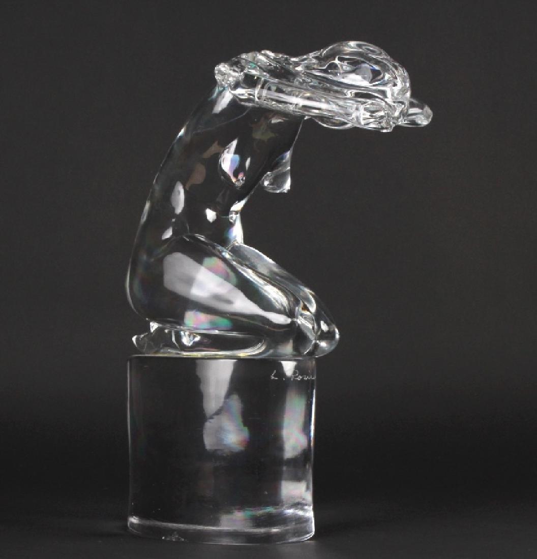 "Loredano Rosin Murano Nude Art Glass 16"" Sculpture"