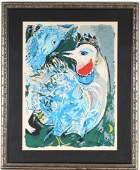 Chagall LES PLUMES EN FLEURS LE Litho Lithograph