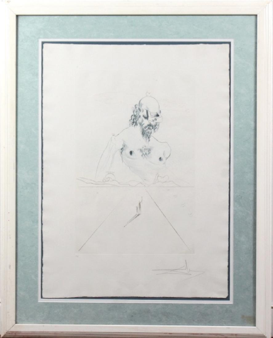 Salvador Dali Le Colosse Surrealist Etching SIGNED