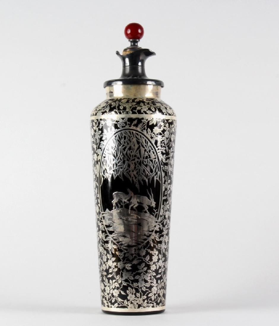 RARE Rockwell Glass Sterling Silver Glass Shaker
