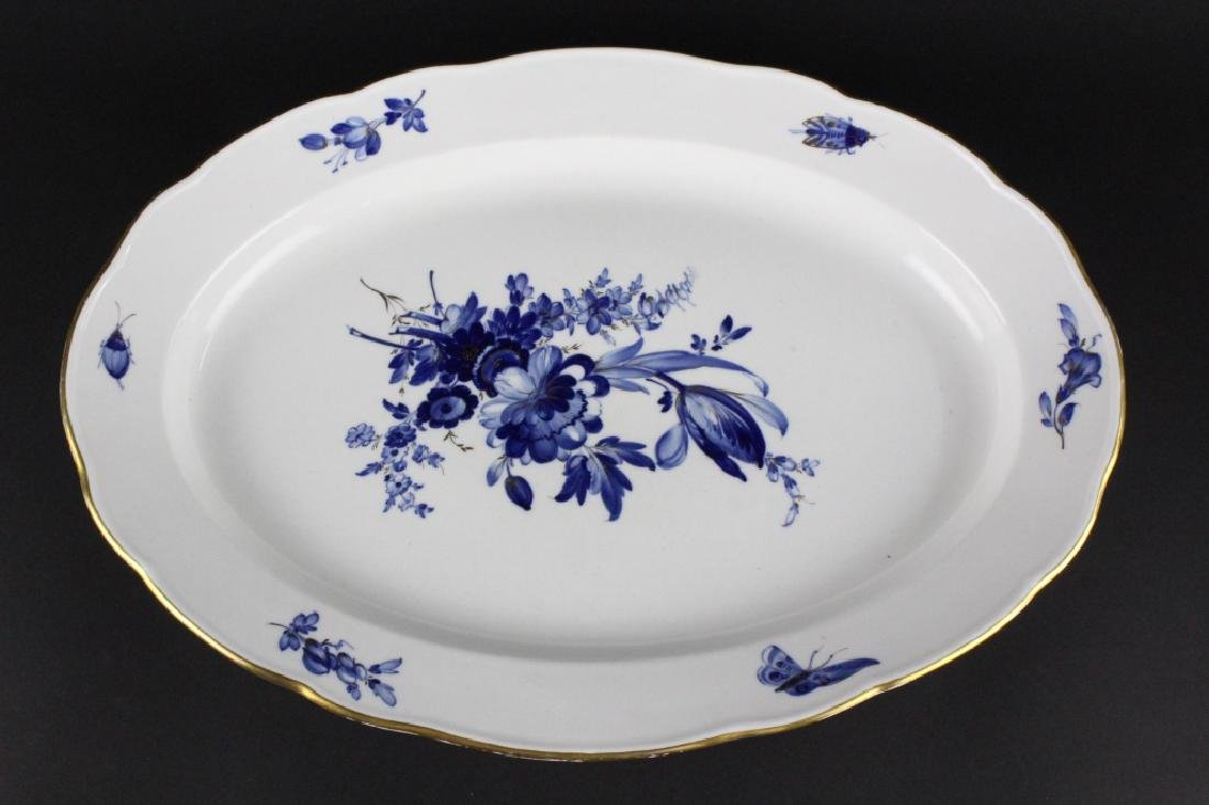 Meissen German Floral Porcelain Meat Serving Tray