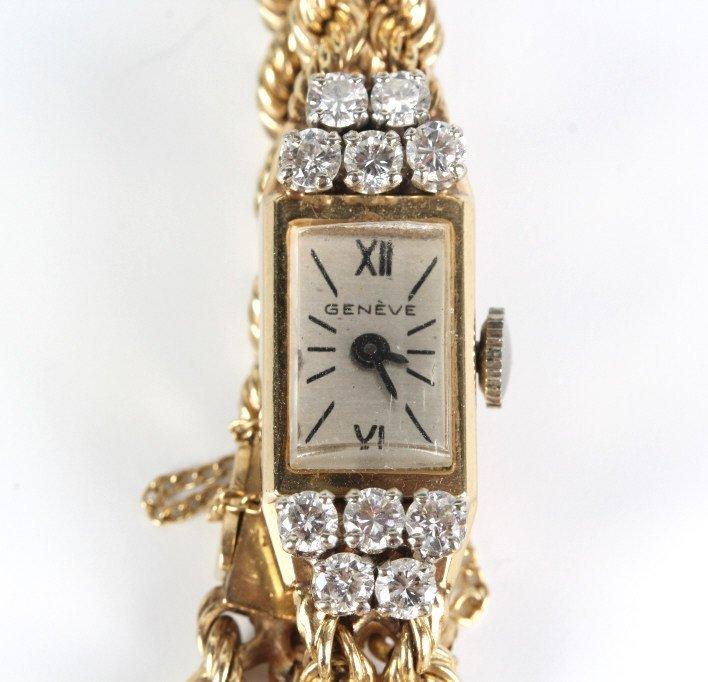 Geneve 14KT GOLD & 1.25ctw Diamond Watch