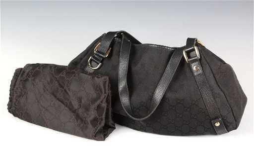 2065697c5fc1 Gucci Monogram Abbey Denim Handbag