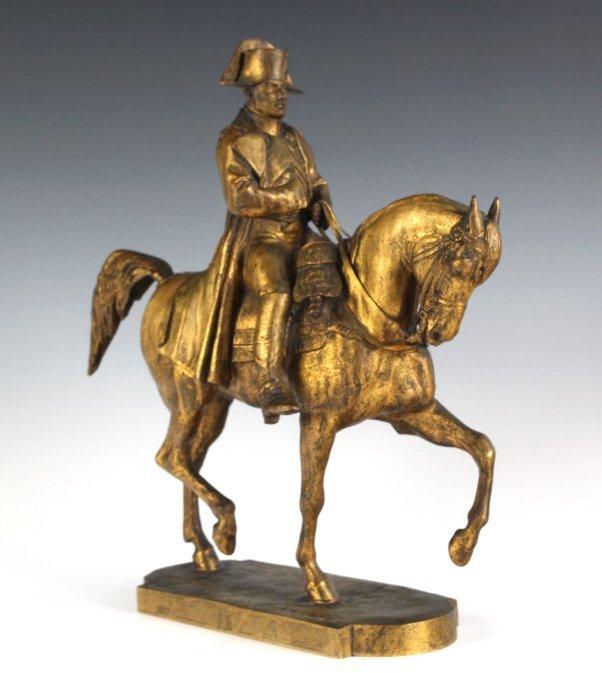 E Fremiet Napoleon Napoleon Horse Gilt Bronze Sculpture