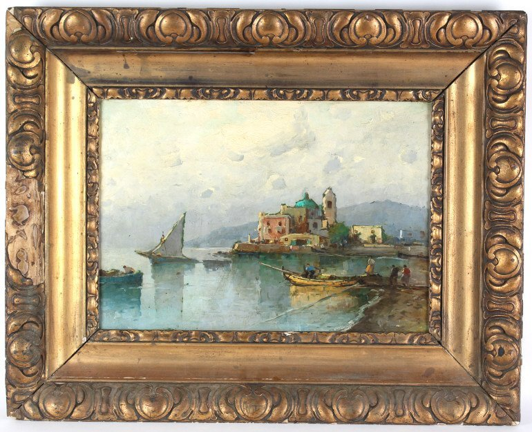 Antique 19th C. Italian Oil Painting On Board