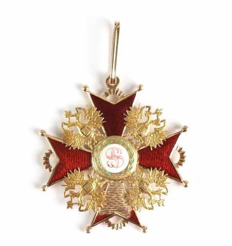 Antique 14KT YG Russian Enamel Porcelain Medallion