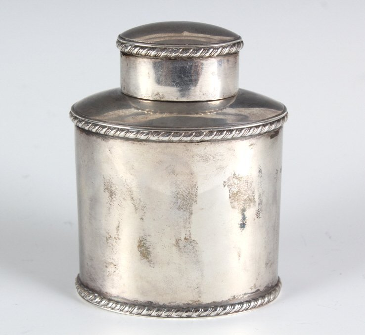 Antique Atkin Brothers English Sterling Tea Caddy