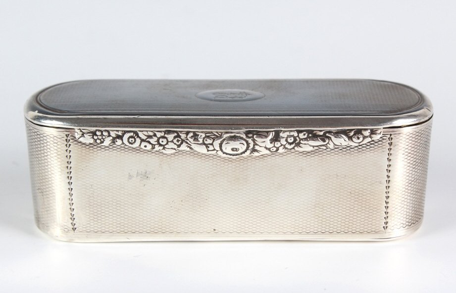 George III Oval Sterling Silver Snuff Box
