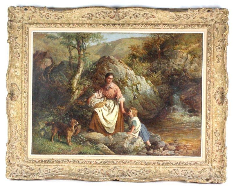 Antique Edward Holmes UK 19th Century Oil Painting