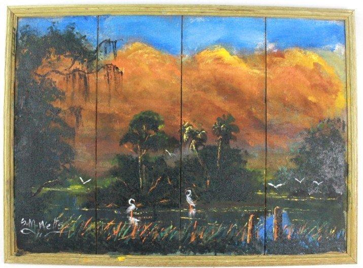 Sylvester Wells FL Highwaymen Landscape Painting
