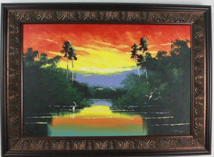 John Maynor Florida Highwaymen Landscape Painting