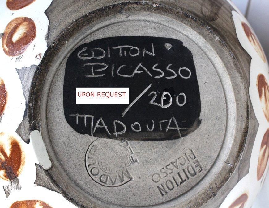 Pablo Picasso Visage au nez Madoura Art Pottery Pitcher - 10