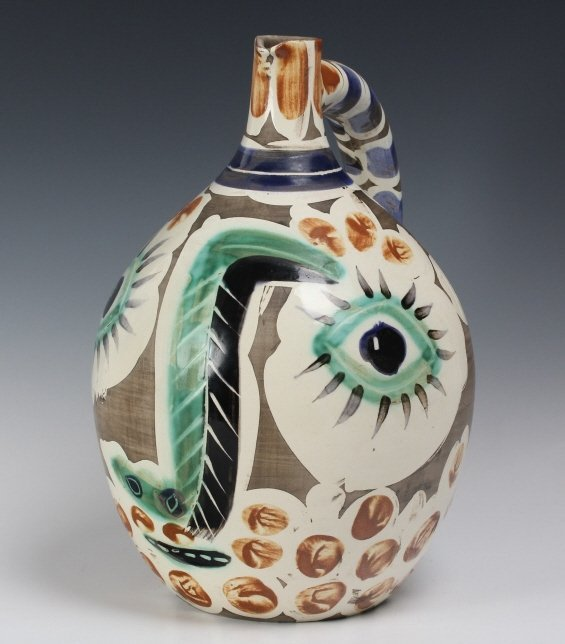 Pablo Picasso Visage au nez Madoura Art Pottery Pitcher - 3