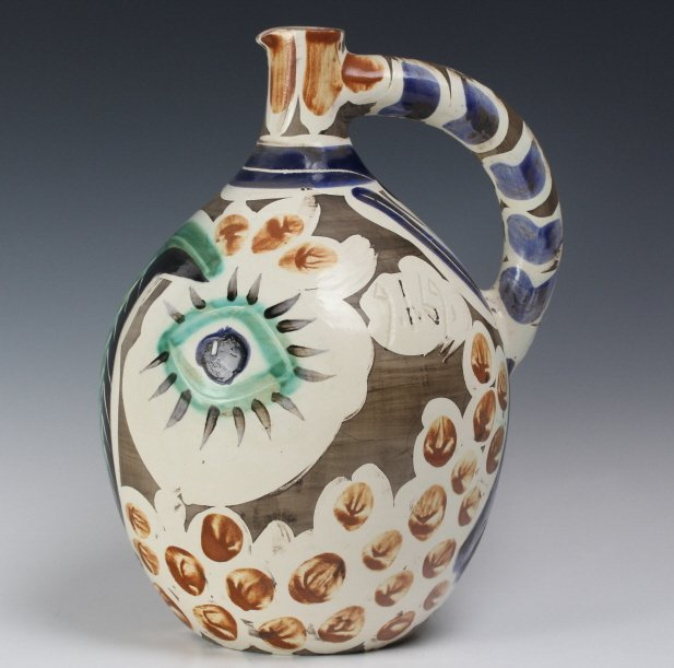 Pablo Picasso Visage au nez Madoura Art Pottery Pitcher - 4