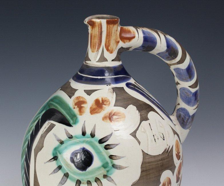 Pablo Picasso Visage au nez Madoura Art Pottery Pitcher - 5