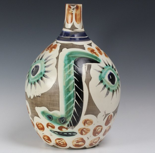 Pablo Picasso Visage au nez Madoura Art Pottery Pitcher - 9