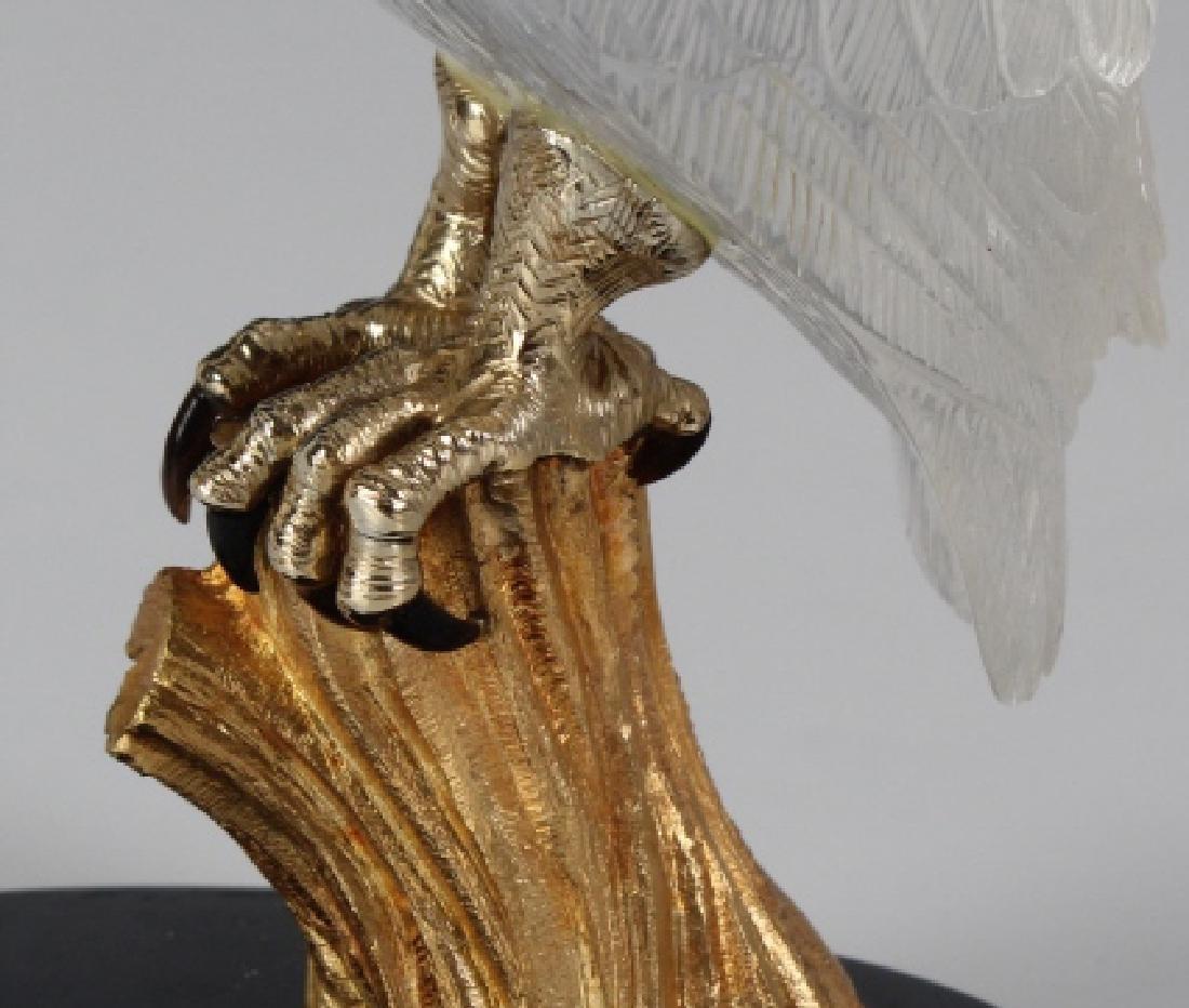 Important Boucheron Rock Crystal 18k Owl Statue - 4