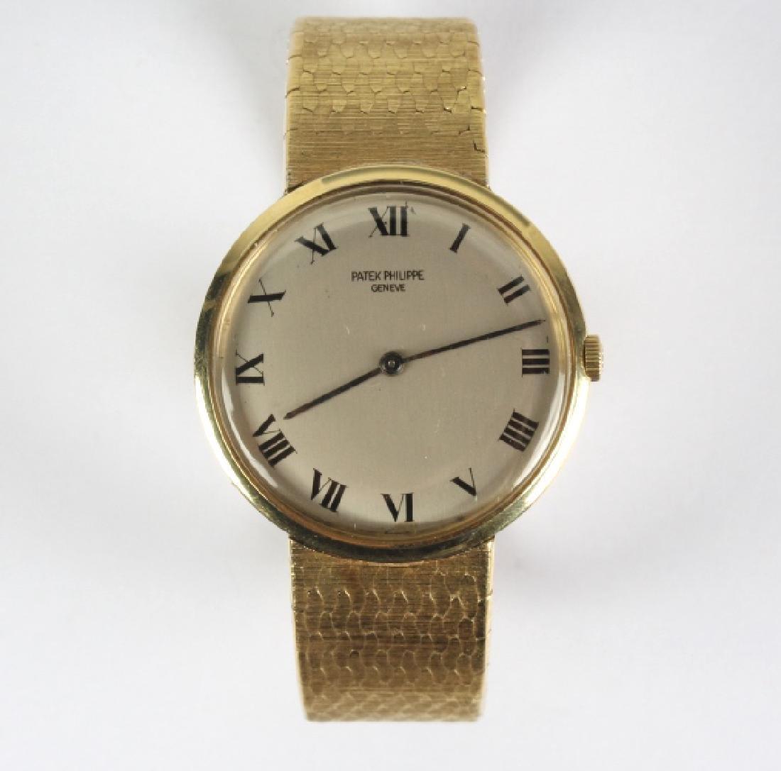 Mens Patek Philippe 18k Gold Tiffany & Co Watch