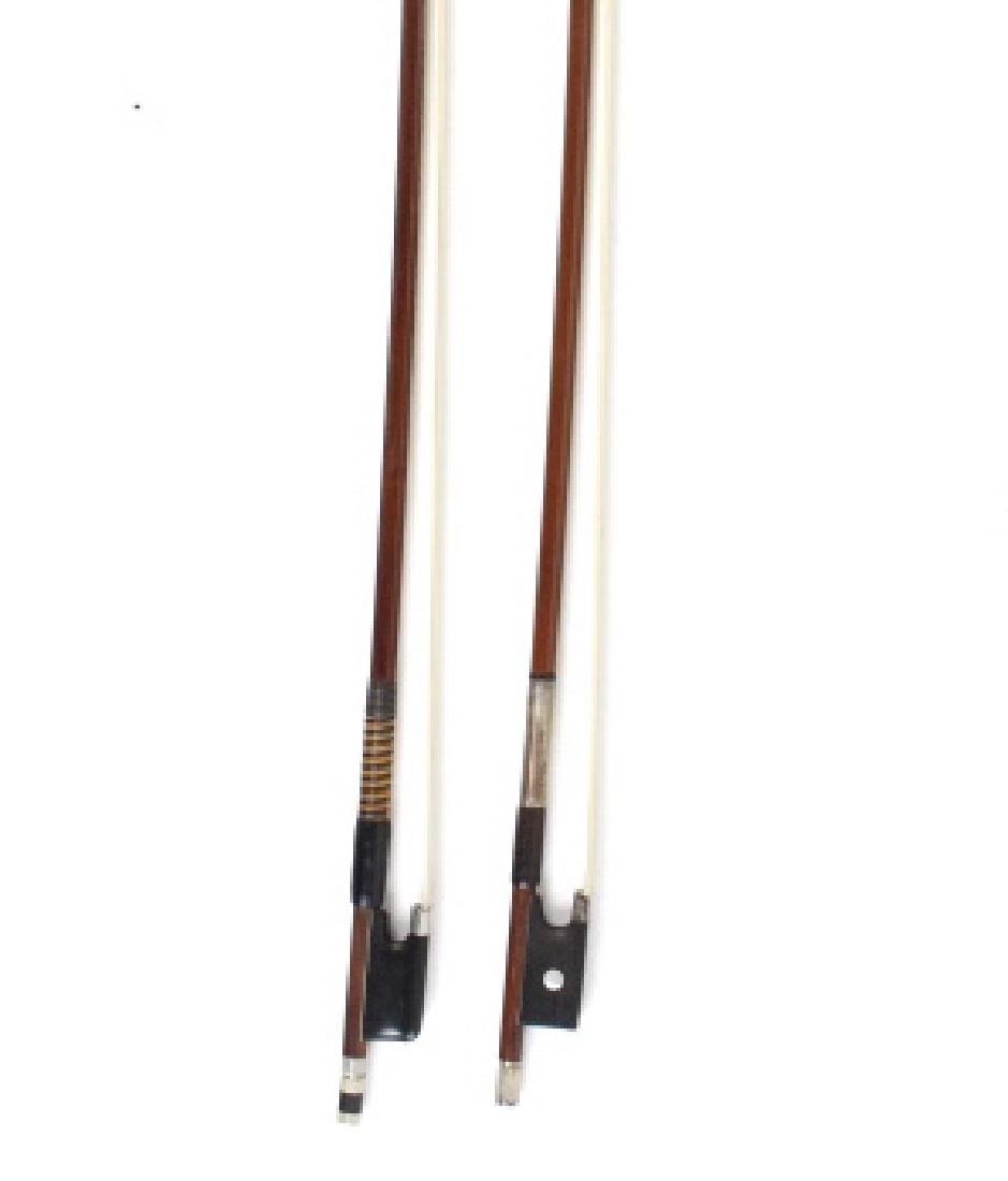 Fine Pair Violin Bows M. Winterling & Voirin Model