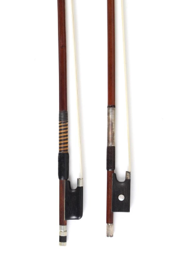Fine Pair Violin Bows M. Winterling & Voirin Model - 2