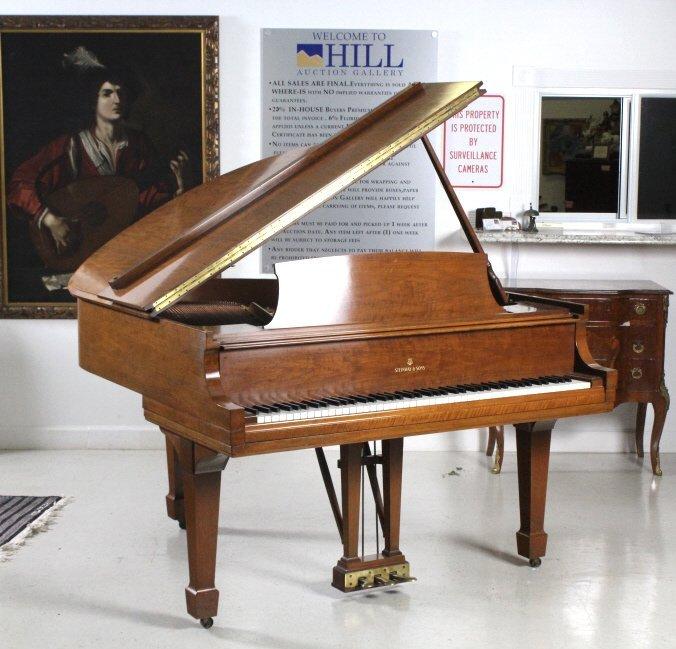 Steinway Model S Baby Grand Piano in Walnut Case