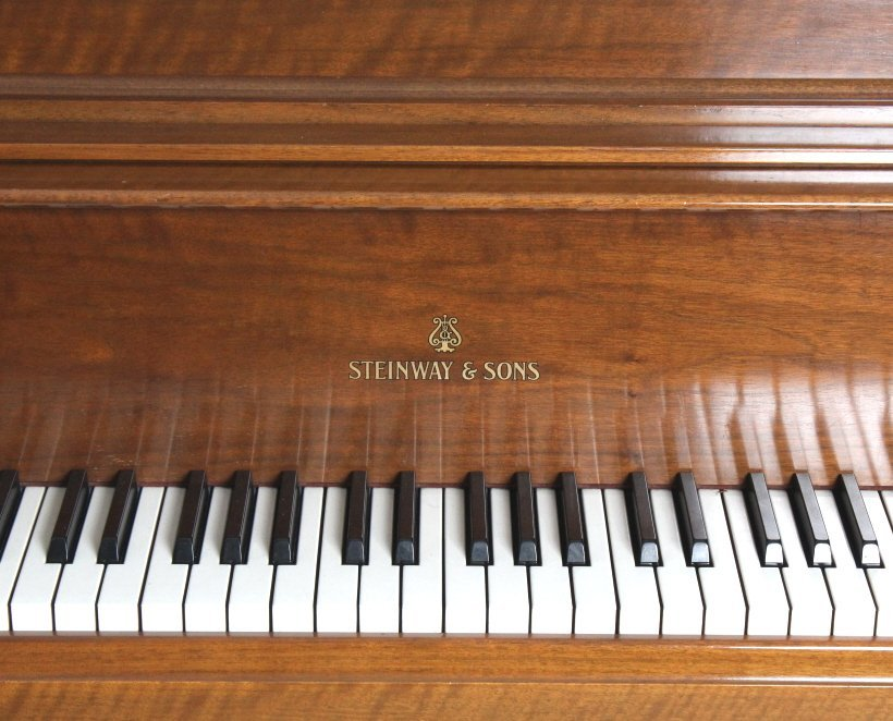 Steinway Model S Baby Grand Piano in Walnut Case - 9