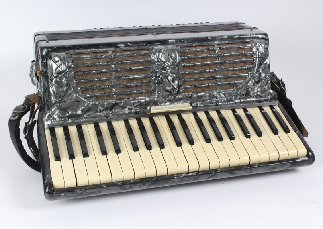 Fine Italian Made 41 Key Accordion w/ Hard Case - 2