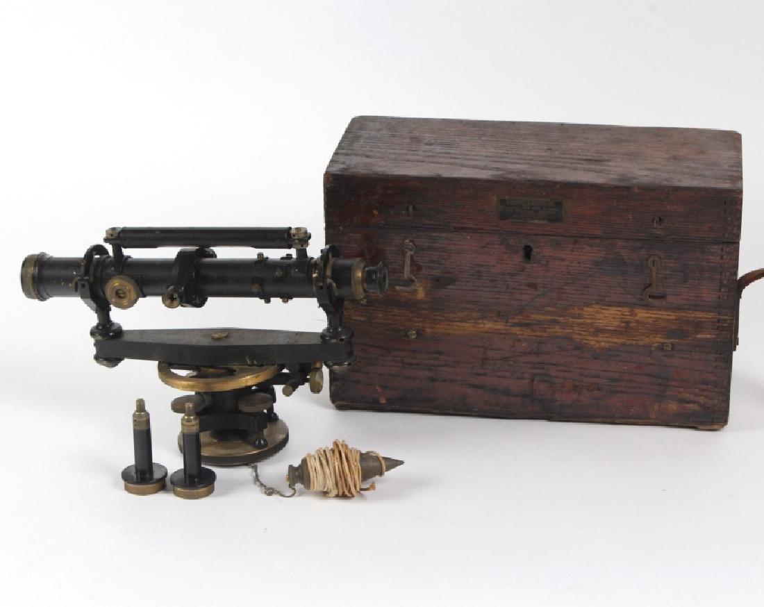 Vintage Survey Scope w Accessories & Wood Case