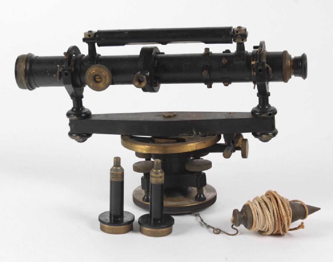 Vintage Survey Scope w Accessories & Wood Case - 2