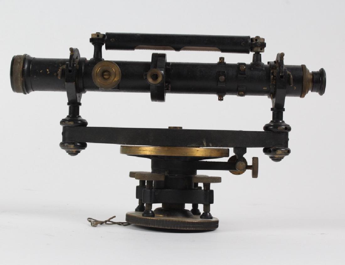 Vintage Survey Scope w Accessories & Wood Case - 4