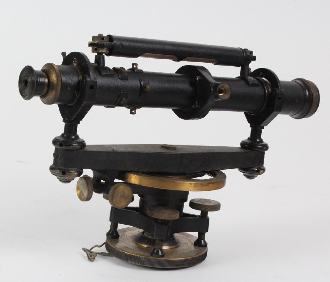 Vintage Survey Scope w Accessories & Wood Case - 7