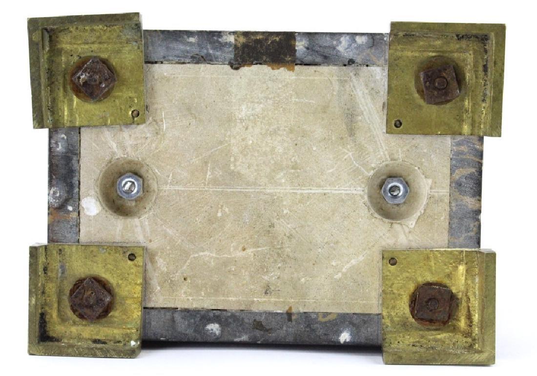 C.H. Paris French Marble Clock w/ Garnitures Set - 9