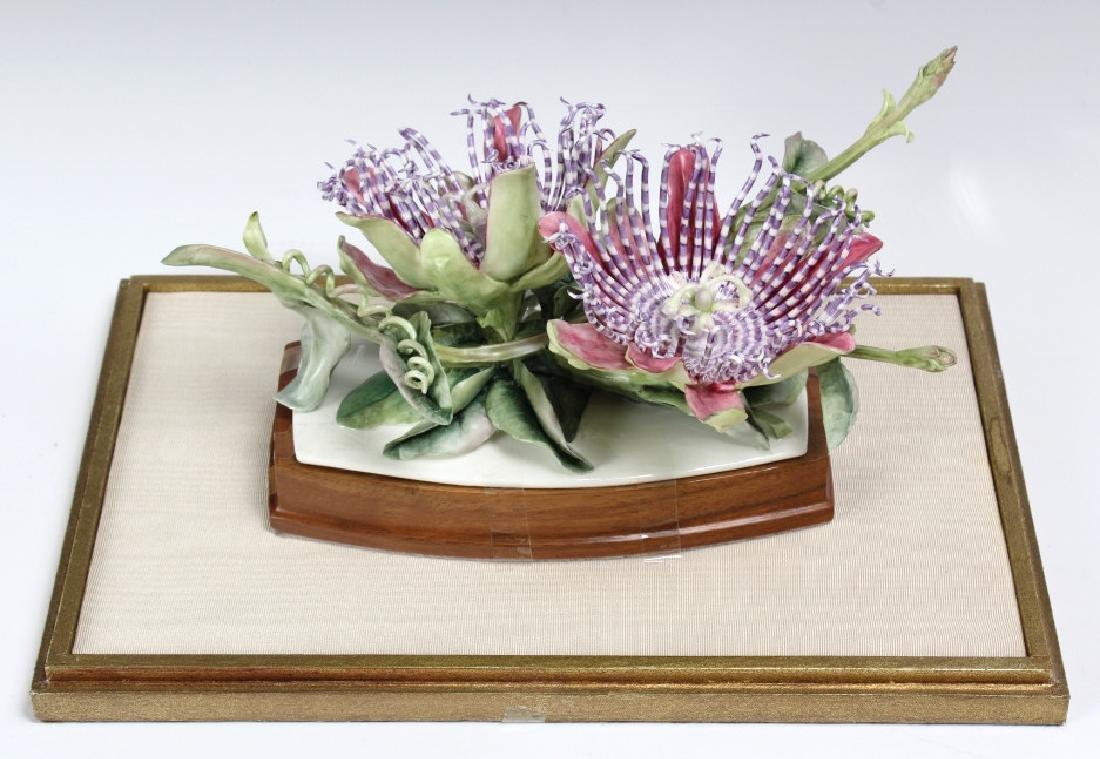 Royal Worcester Porcelain Passion Flower Sculpture
