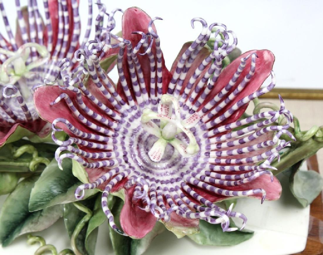 Royal Worcester Porcelain Passion Flower Sculpture - 4