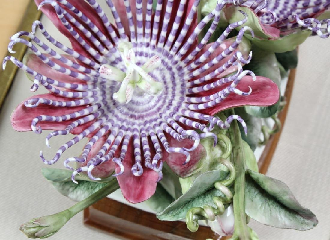 Royal Worcester Porcelain Passion Flower Sculpture - 6