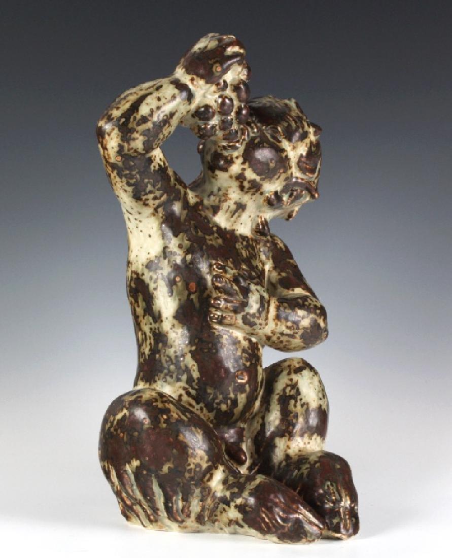 "Royal Copenhagen Boy Eating Grapes 13"" Figurine - 4"