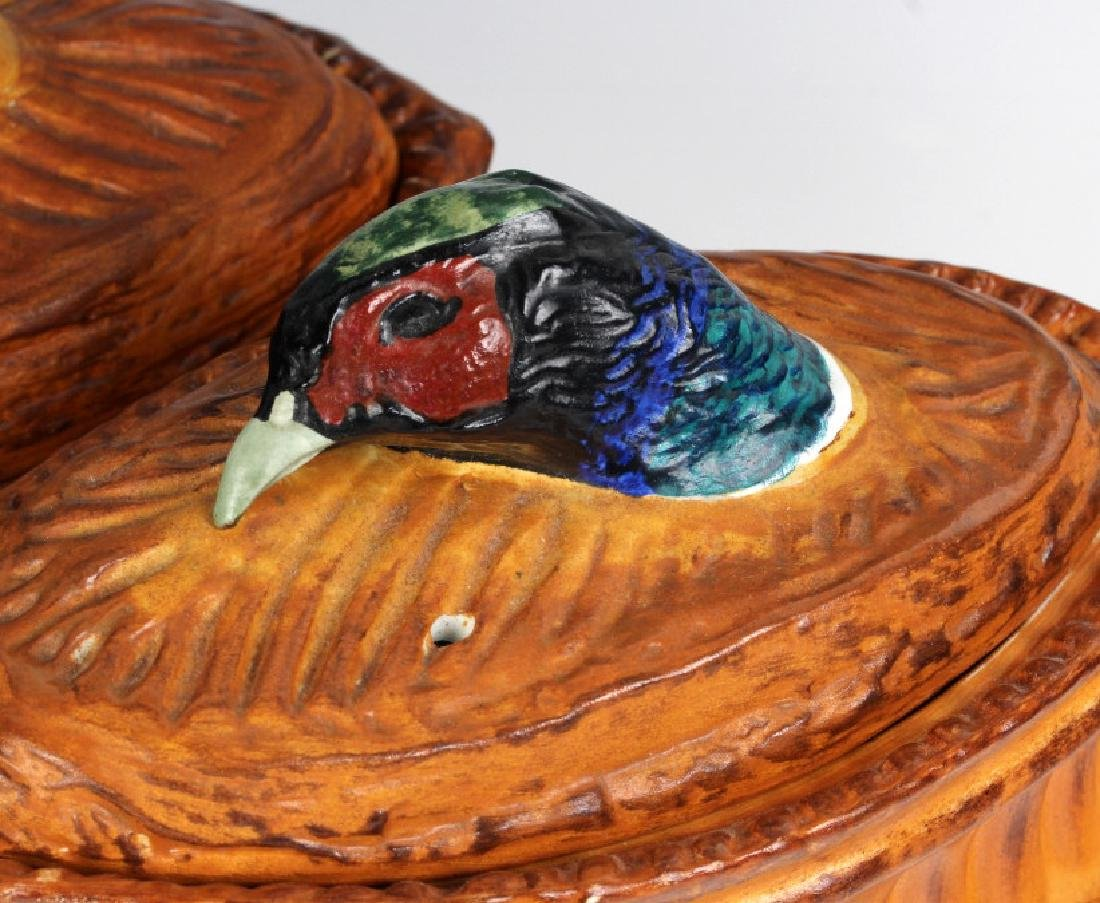 Pair Antique Pillivuyt French Pheasant Soup Tureen - 2